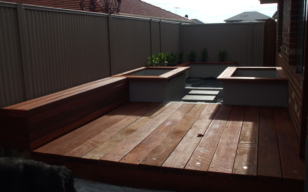 Outdoor decking and ponds