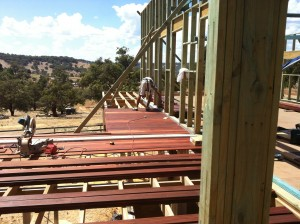 Laying the decking