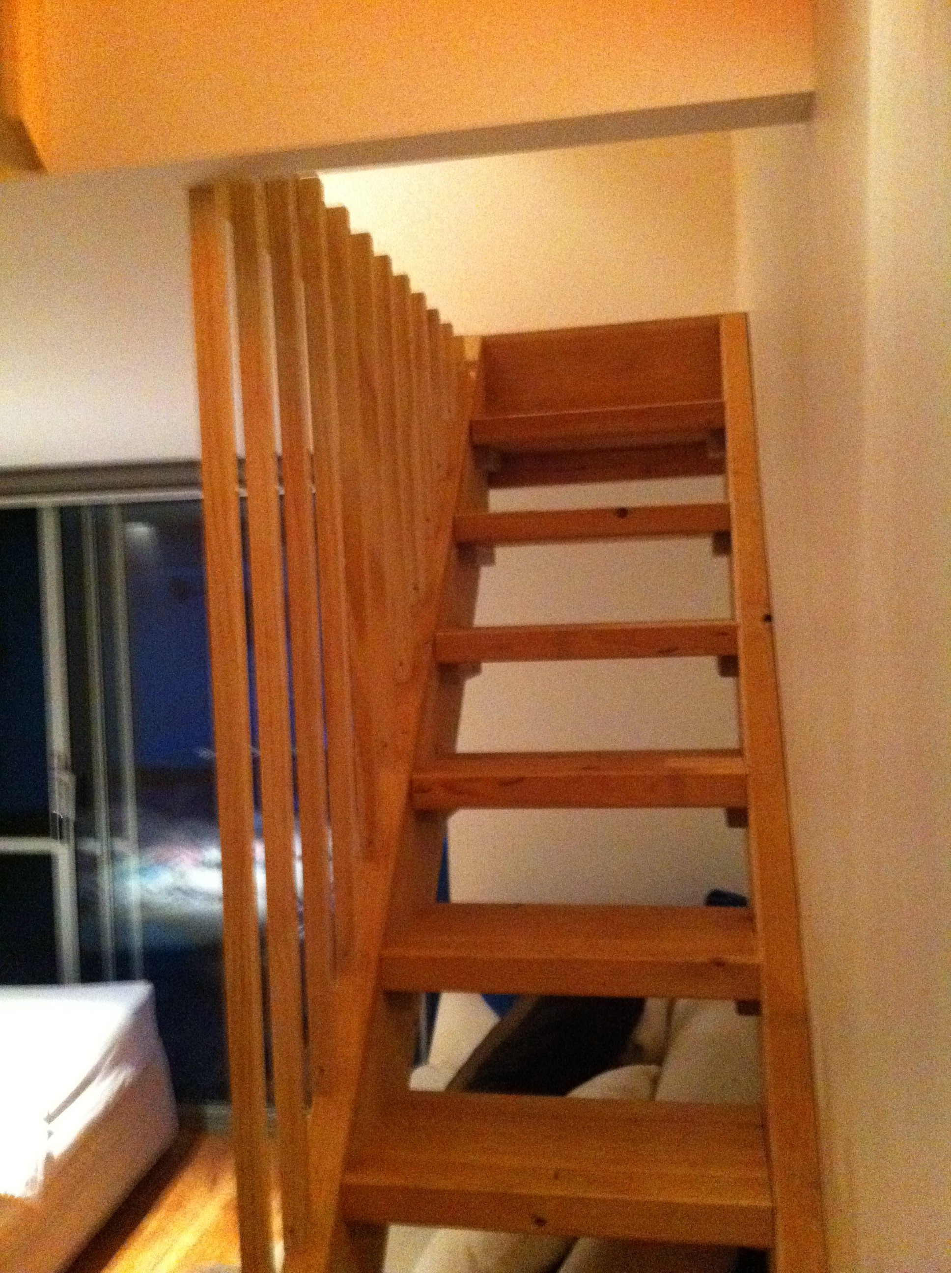 Pine timber stairs for a mezzanine floor avon building for How to build a mezzanine floor for bedroom